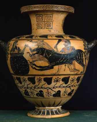 Hydre avec Heracles (Hercule),Cerbere et Eurysthee.Museo diVilla Giulia, Rome. ©Costa/Leemage